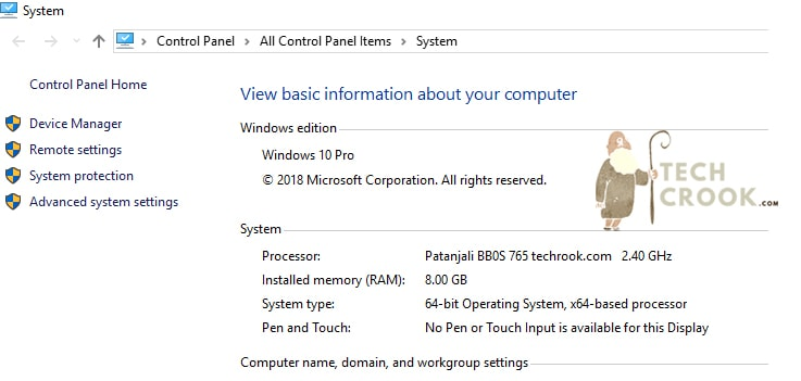 Processor rename in windows