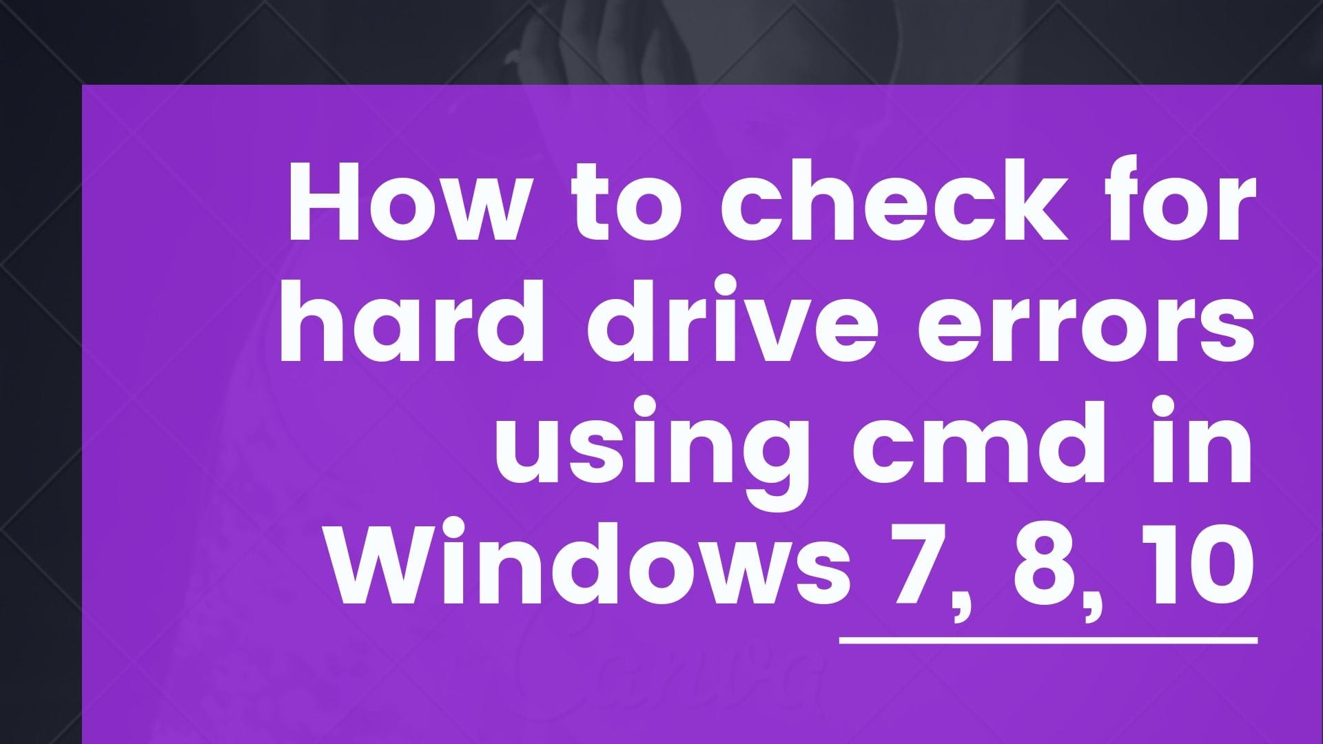 How to check problems with your hard drive in Windows
