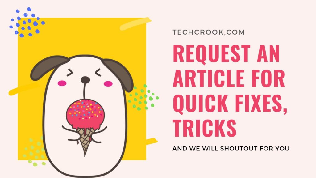request an article from techcrook for your issues regarding windows