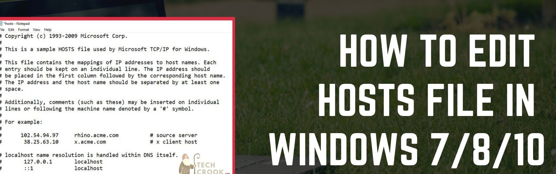 not able to edit hosts file in windows