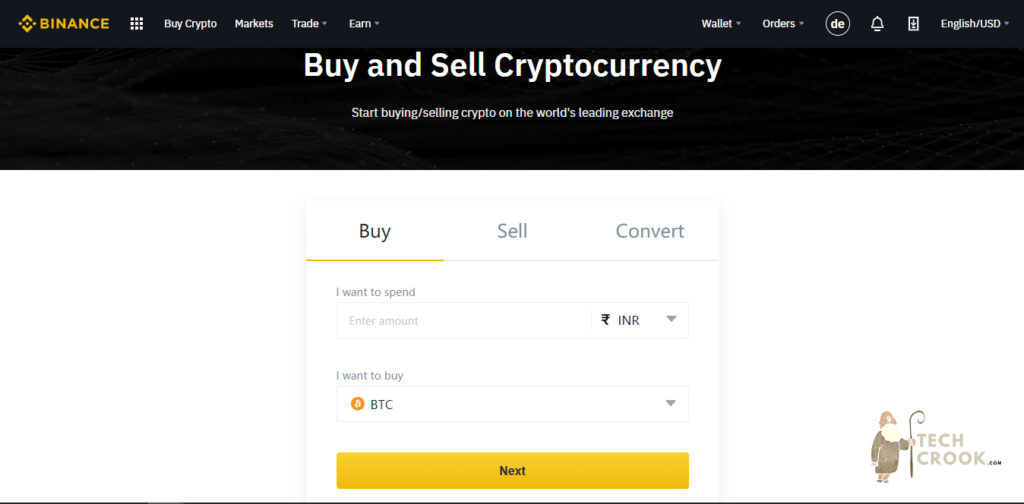 How to buy cryptocurrency with Binance in India