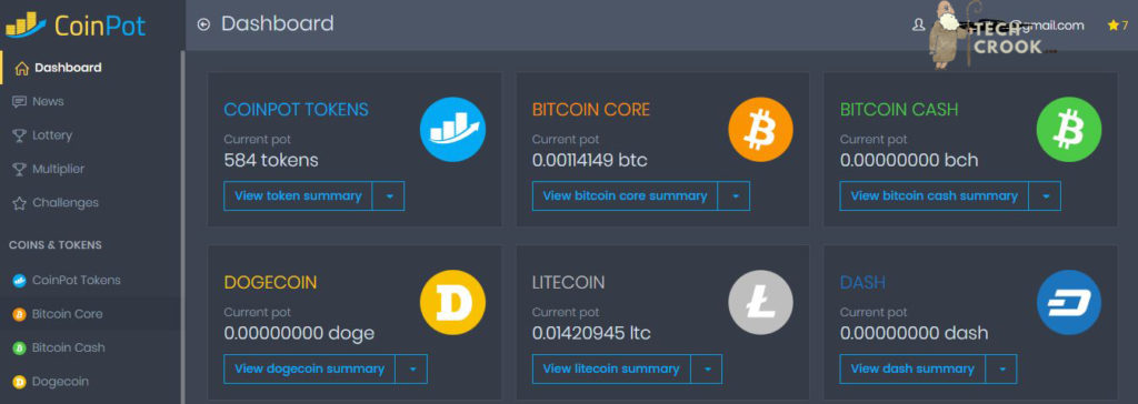 Coinpot wallet to earn bitcoins free