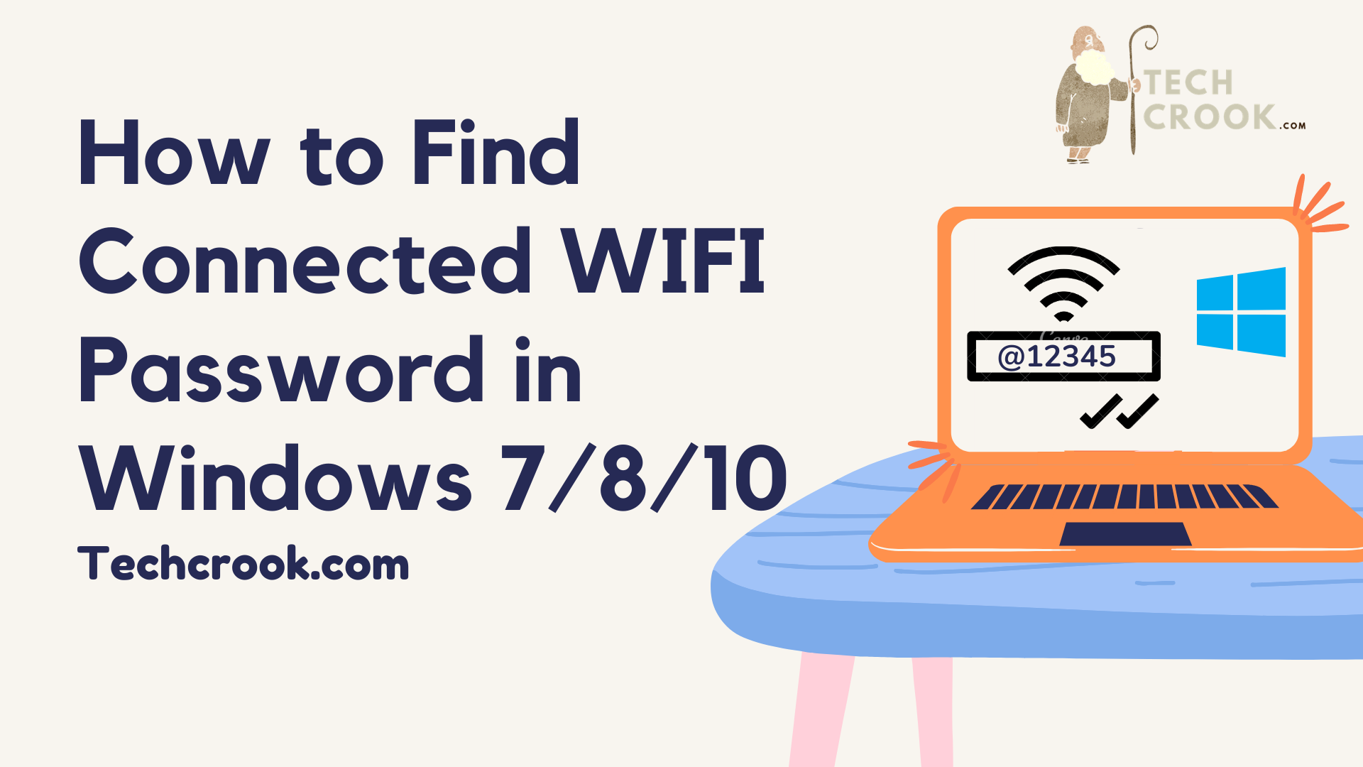How to find the password for current connected WIFI network in Windows 7/8/10