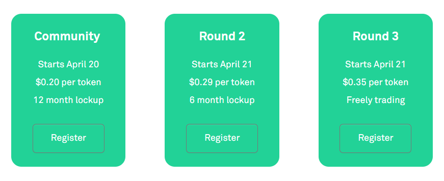 Clover token ICO presale from Coinlist Option rounds details