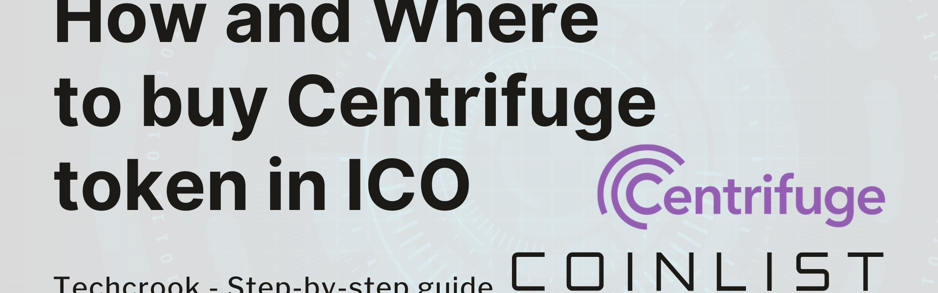 Buy Centrifuge Token CFG ICO presale from Coinlist step by step guide