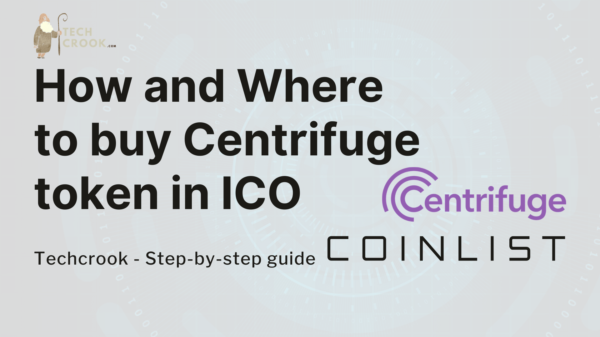 How and Where to buy Centrifuge Token (CFG) from Presale/ICO from Coinlist