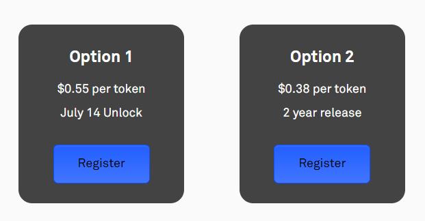 Centrifuge token ICO presale option