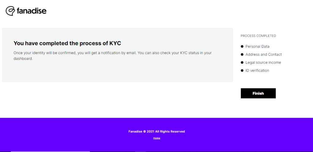 Fanadise token ICO public sale how to complete KYC step by step guide